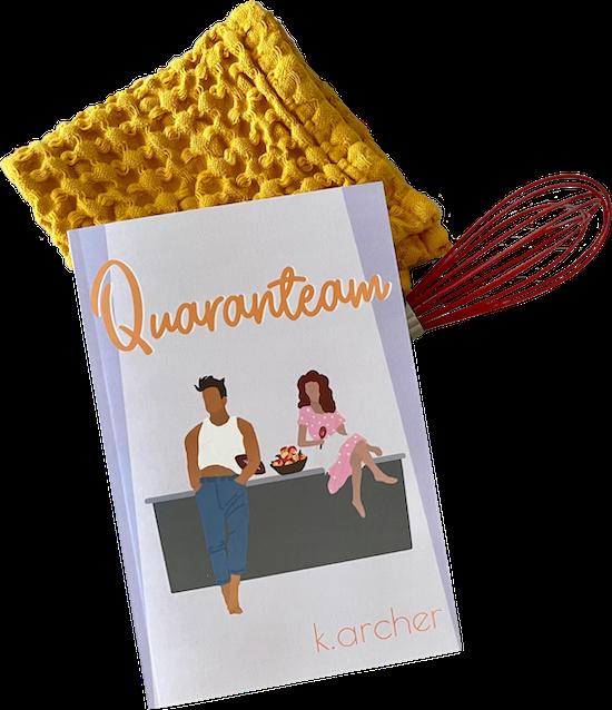 Quaranteam Book Cover On Cooking Utensils